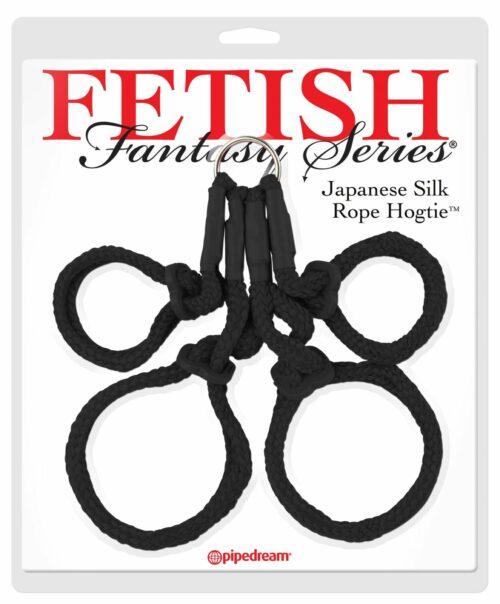 Japanese Silk Rope Hogtie Black Fetish Fantasy Package