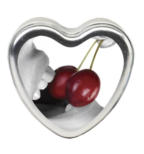 Edible Massage Heart Candle For Couples Cherry