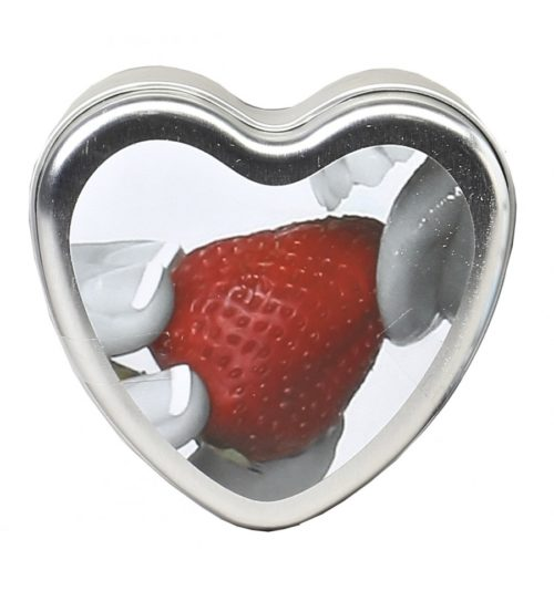 Edible Massage Heart Candle For Couples Strawberry