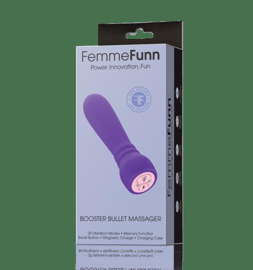 Femme Funn Booster Bullet Massager Purple Vibrate Box