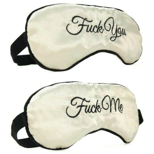Fuck YouFuck Me Reversible Silk Blindfold Masks
