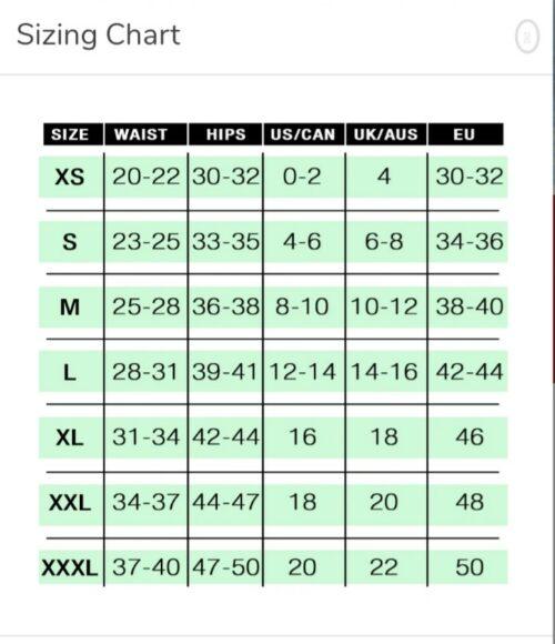 sportsheets sizing chart