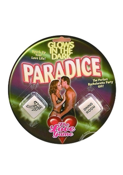 Paradice The Love Game Glow in the Dark Dice