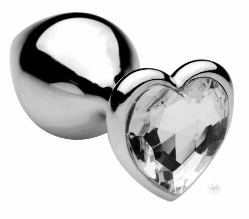 Frisky Icy Jewel Heart Shaped Jeweled Anal Plug