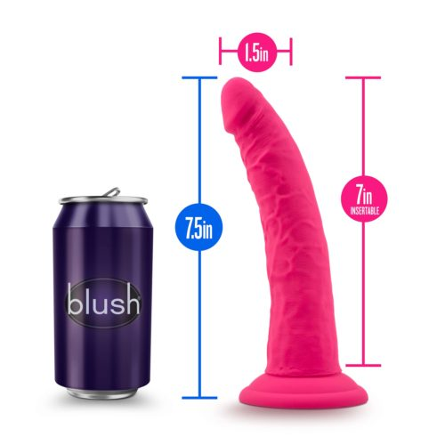 Blush Ruse Silicone Dildo Suction Cup Sex Toy Size