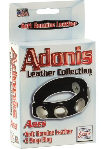 California Exotics Leather Multi-Snap Cock Ring Box