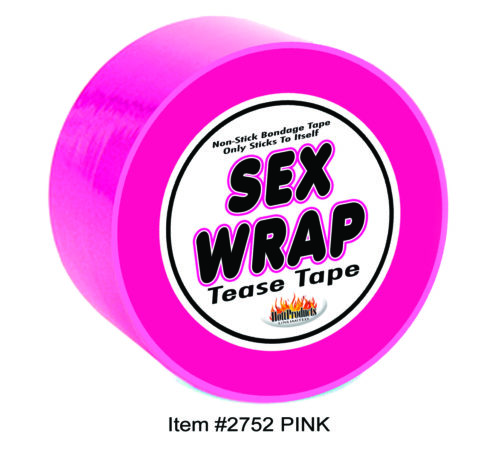 Hott Products Sex Wrap Tease Non-Stick Tape Pink